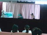 10月12日 人形劇団「ニッキ」と一緒に千葉大小児病棟を訪問しました。