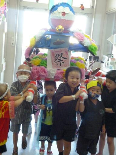 千葉県こども病院血液腫瘍科病棟で夏祭り