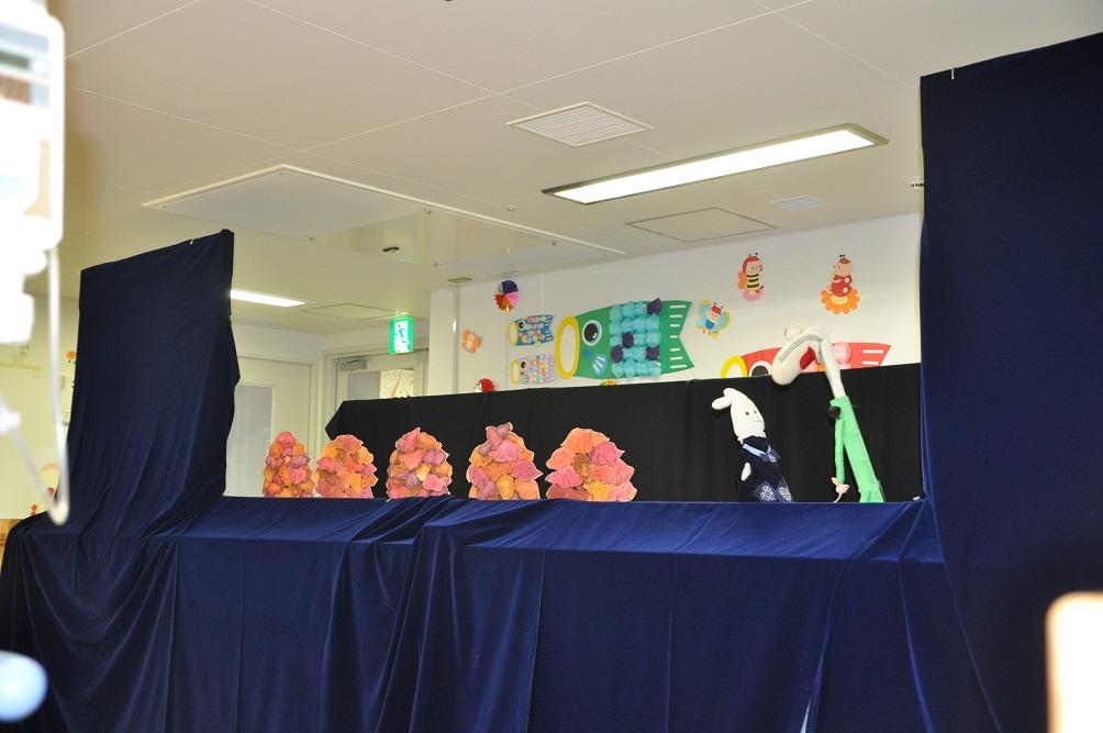 6月2日 千葉大学医学部付属病院小児科での人形劇