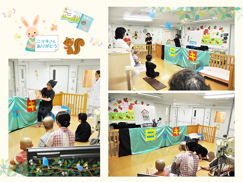 5月31日 千葉大学医学部付属病院小児科 人形劇