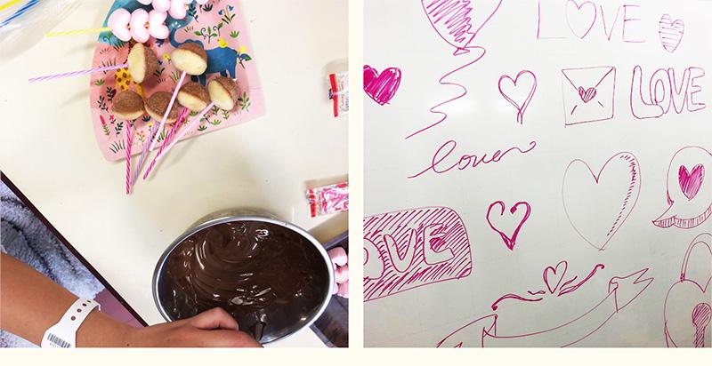 2月10日 成田赤十字病院 バレンタインチョコレート作り