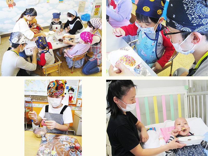 2月11日 千葉県こども病院  チョコレート作り