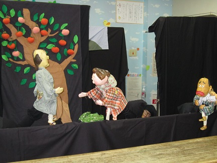 7月15日 人形劇の訪問