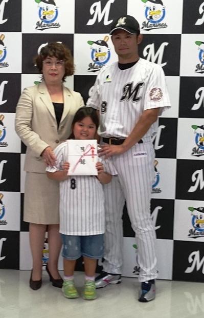 9月27日 今江選手からご寄付をいただきました