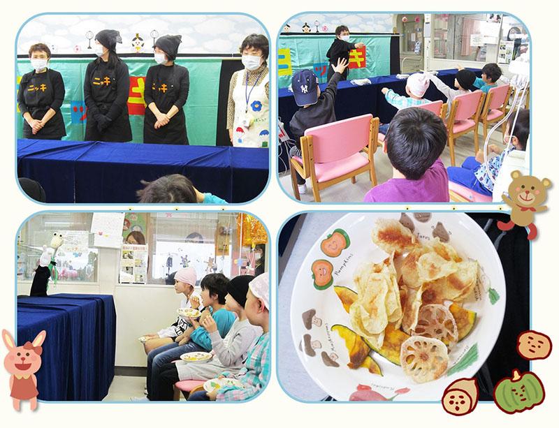 3月7日 千葉県こども病院で人形劇を見ました