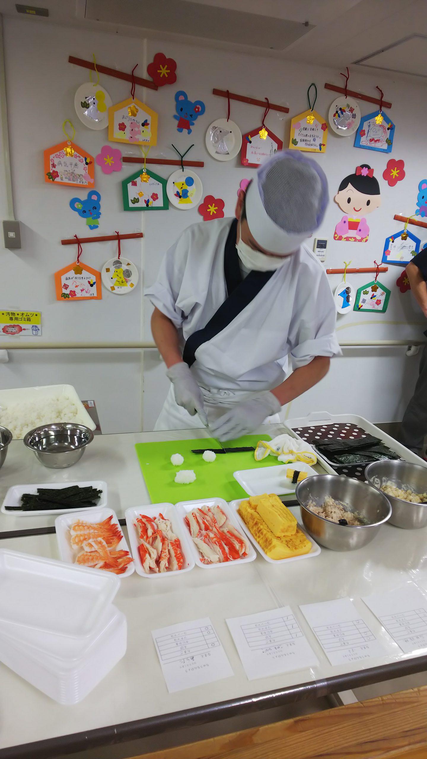 2月12日 千葉大学医学部附属病院小児科 すしパーティー