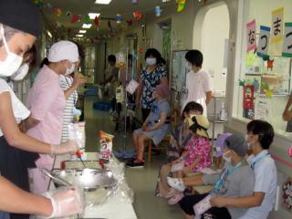 8月13日 こども病院で夏祭りをしました