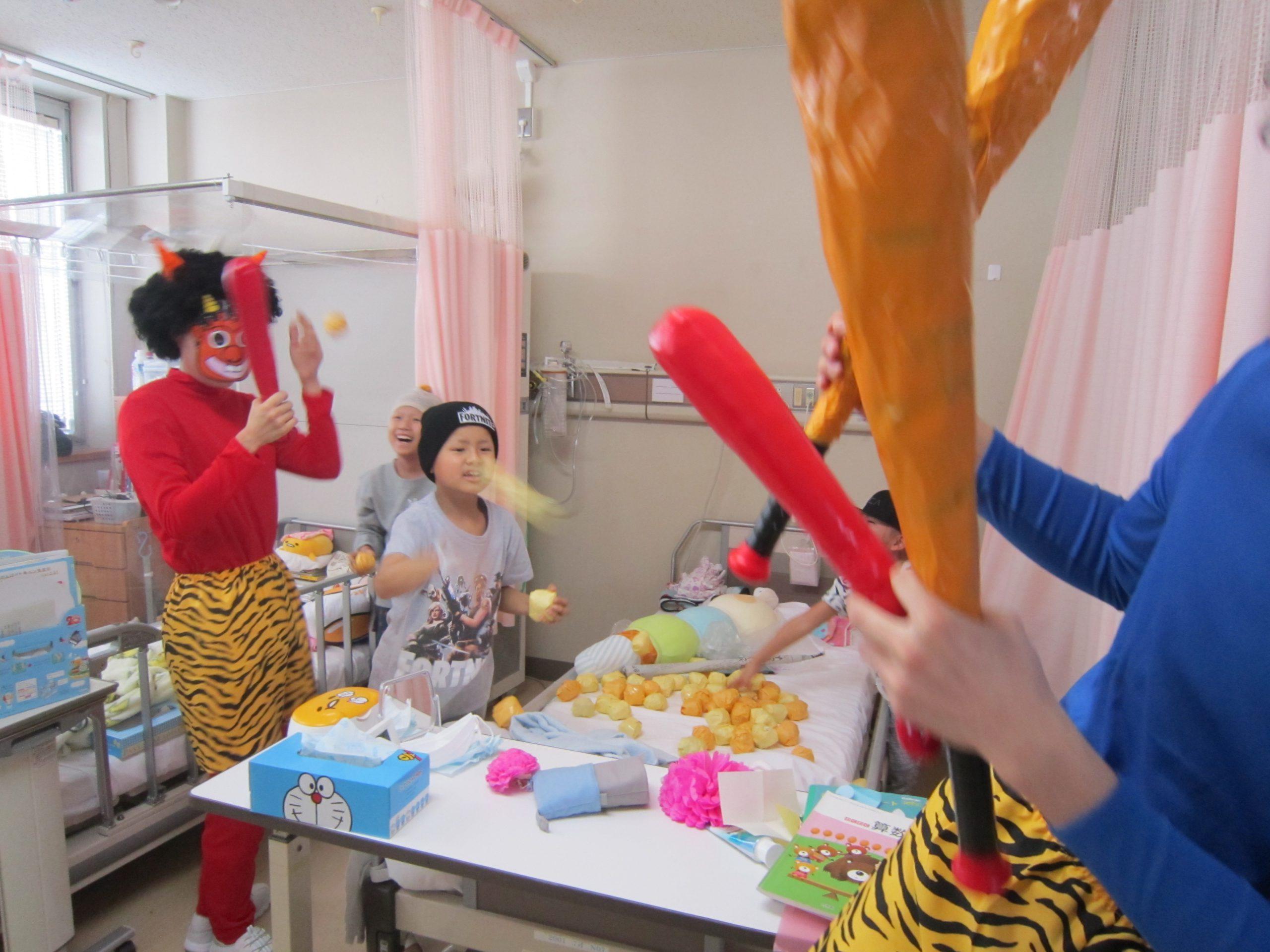 1月31日 千葉県こども病院 豆まき